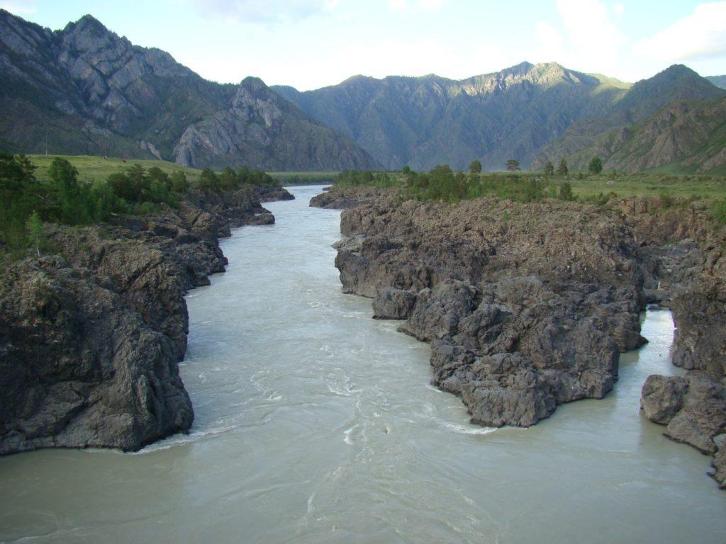 Порог Тельдекпень (Эджиганский) на реке Катунь, фотографии