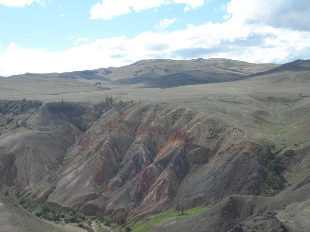 Алтайский Марс (цветные горы Кызыл-Чина), фотографии