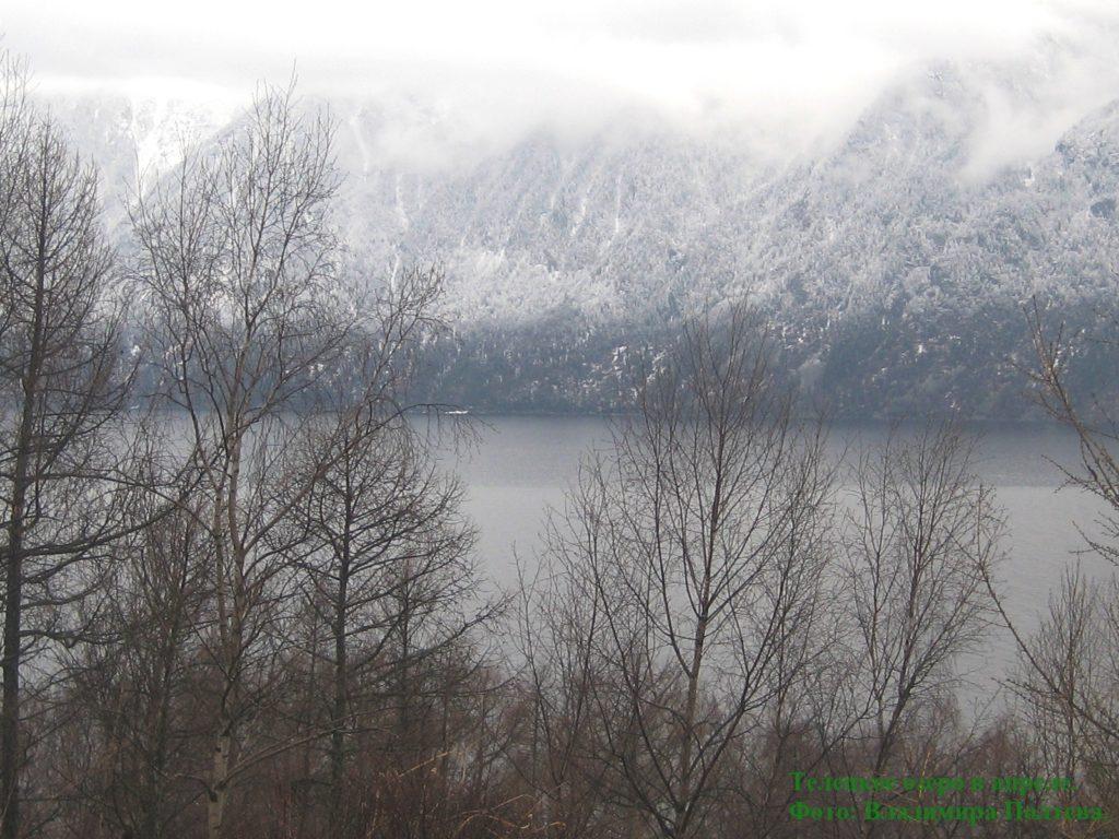 Алтай. Телецкое озеро в апреле.