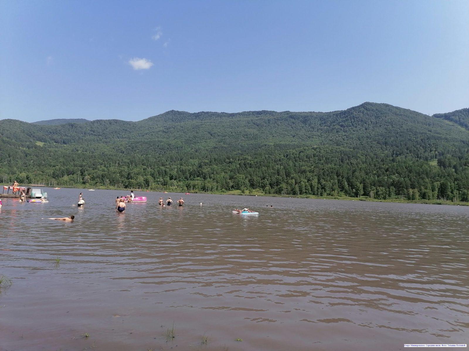 Озеро Манжерокское. Середина июля.
