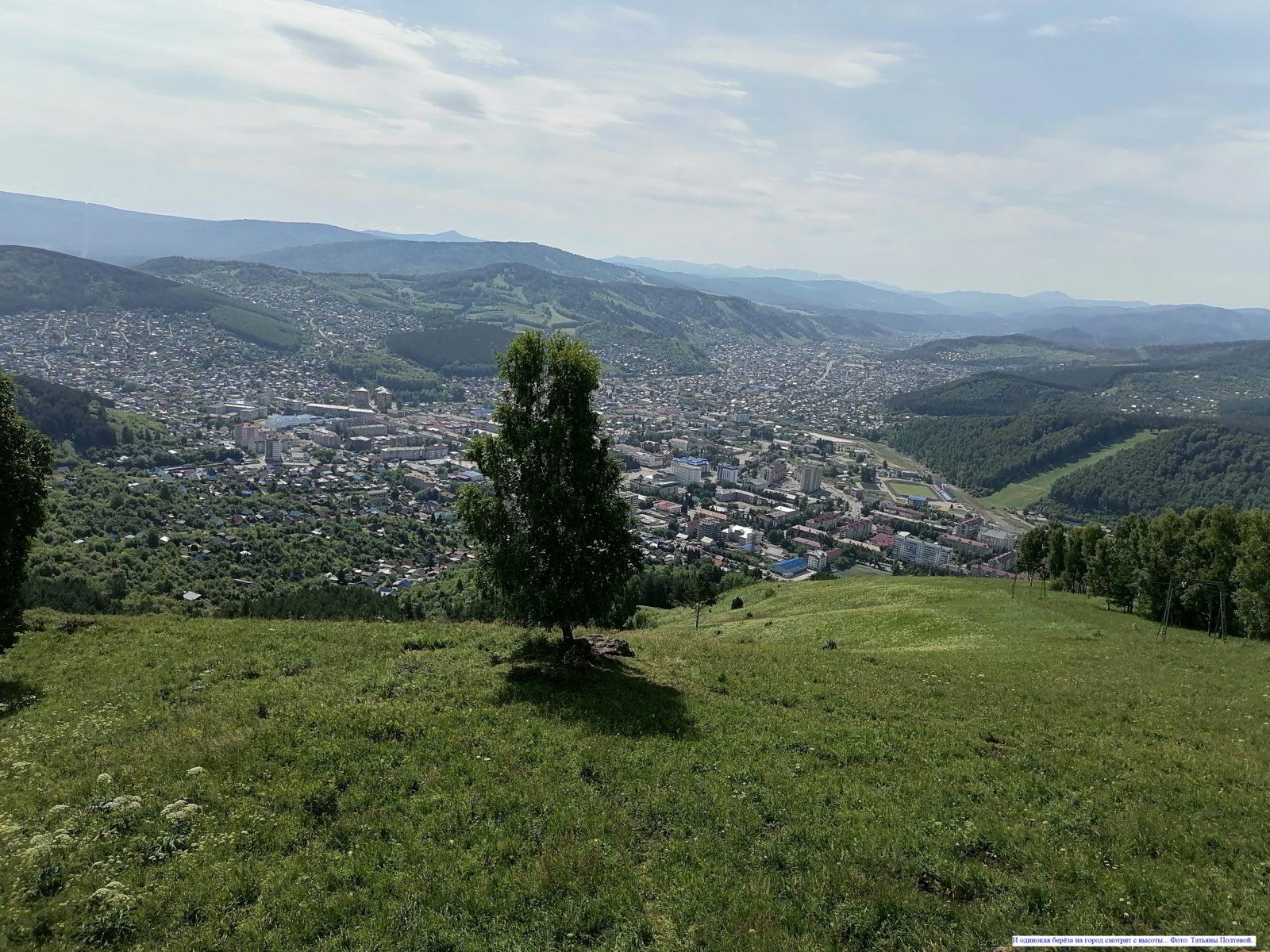 И одинокая берёза на город смотрит с высоты.