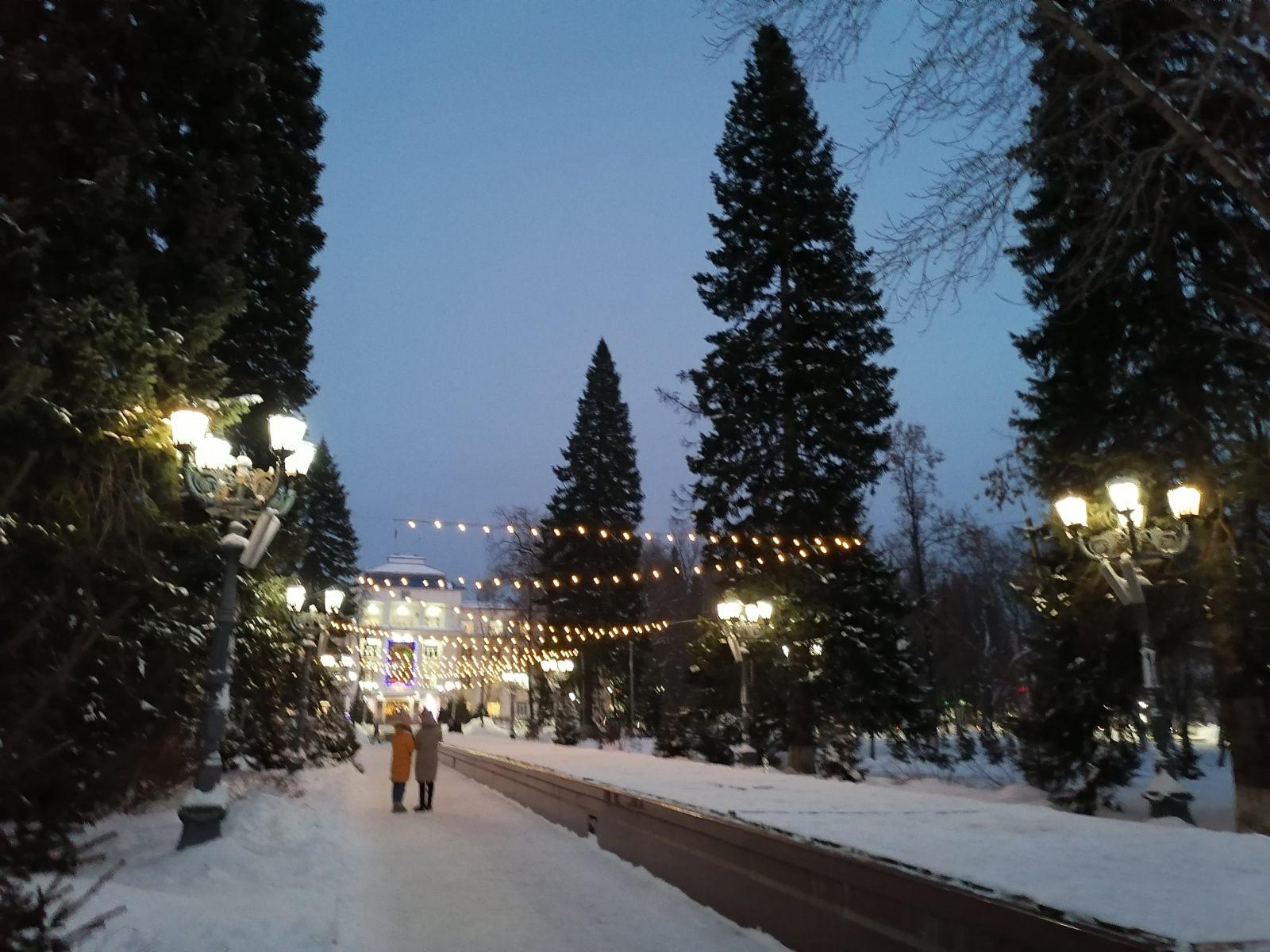 Горно-Алтайск новогодний.
