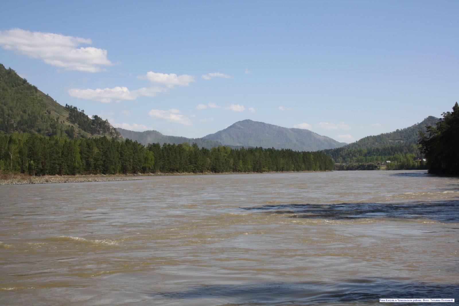 Река Катунь в Чемальском районе.