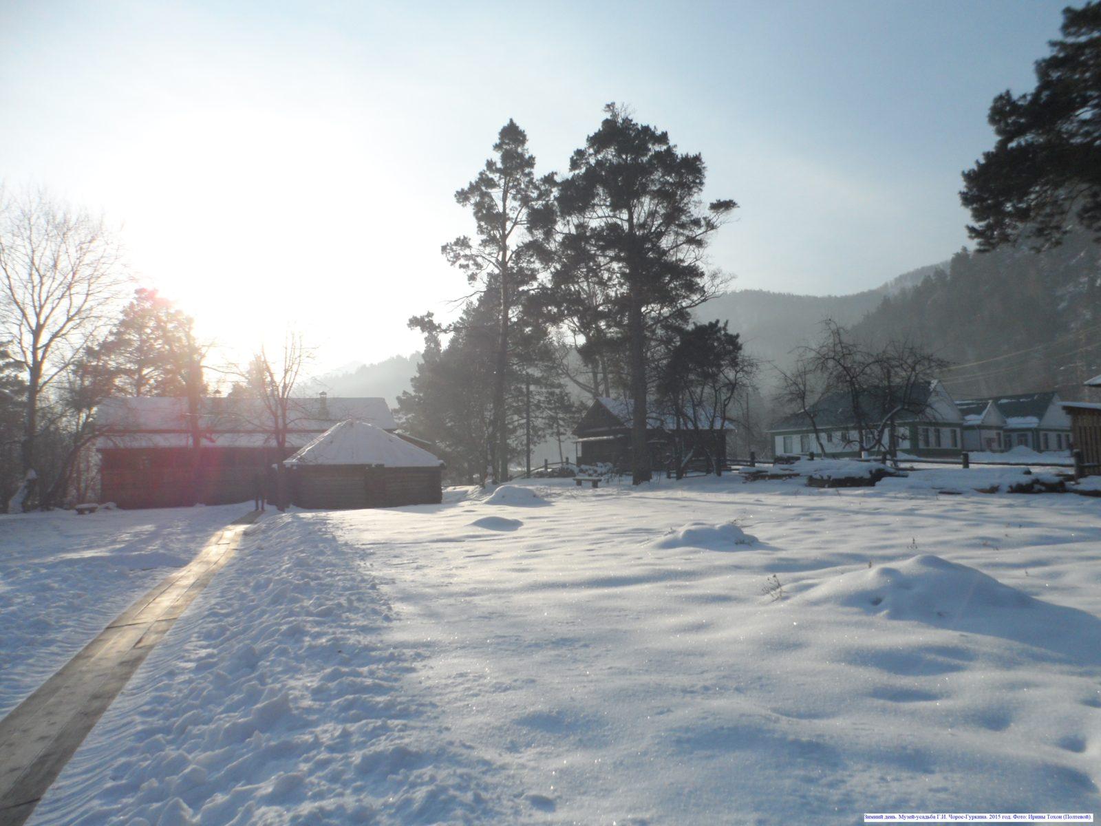 Зимний день. Музей-усадьба Г.И. Чорос-Гуркина. 2015 год.